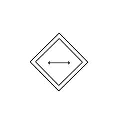 Width icon vector