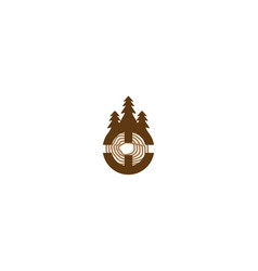 Wood cutter logo designs inspiration isolated on vector