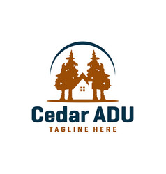 wooden house logo design vector image