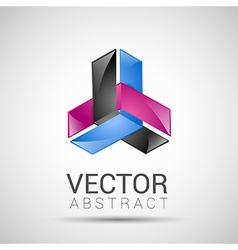 abstract element shape design icon vector image