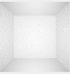 abstract modern white technology 3d vector image vector image