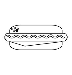 delicious hot dog isolated icon vector image vector image
