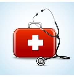 First aid healthcare concept vector image