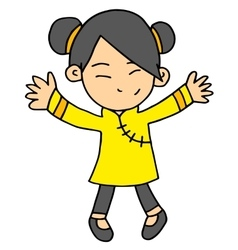 Girl chinese character vector