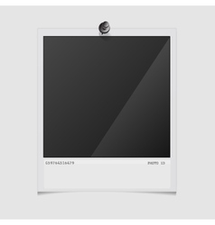 Photo frame on white background vector image