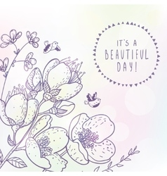 beautiful spring flowers vector image vector image