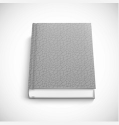 book template with grey color lather hard cover vector image vector image