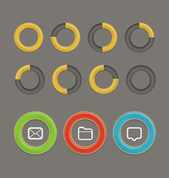 Different circle charts infographic elements vector image