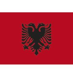 Flag Albania vector image