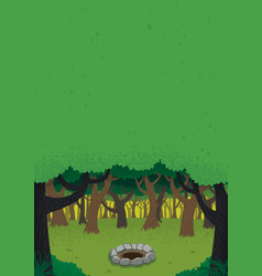 forest day poster vector image vector image