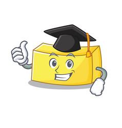 Graduation butter character cartoon style vector
