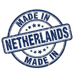 made in Netherlands vector image vector image
