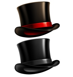 Gentleman top hat vector image