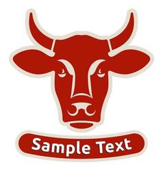 Head of a cow vector image vector image