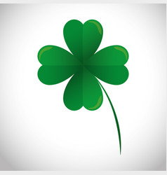 lucky clover leaf icon vector image