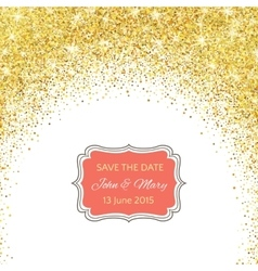 Perfect wedding template with golden confetti vector image vector image