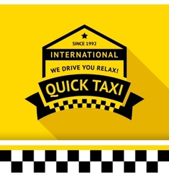 Taxi badge with shadow - 05 vector