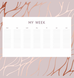 a week decorative background notes vector image