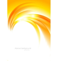 Abstract sunny orange background vector image vector image