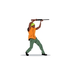 African man with gun street crime and a threat vector