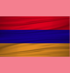 armenia flag armenia flag blowig in the wind eps vector image