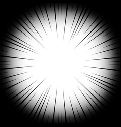 background radial lines on a white background vector image