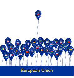 brexit concept with balloons vector image