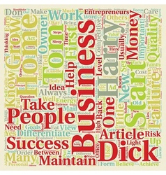 Can any Tom Dick and Harry Start A Home Business vector image