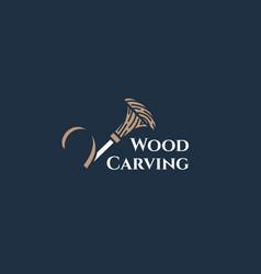 Carving logo vector