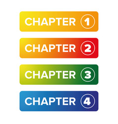 Chapter bookmark button set vector