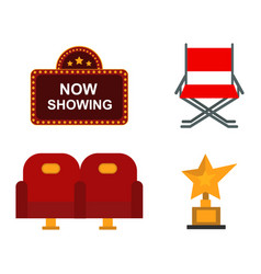 cinema chairs and entertainment equipment vector image