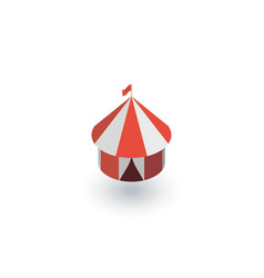 Circus tent isometric flat icon 3d vector