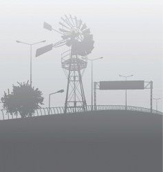 City smog or fog vector