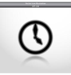 clock web flat icon vector image