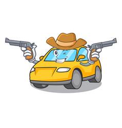 Cowboy taxi character cartoon style vector