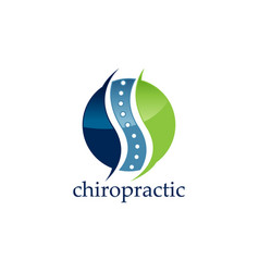 creative chiropractic concept logo design template vector image