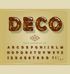 decorative glossy font cartoon 3d alphabet vector image