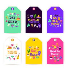 Dia los muertos gift labels vector