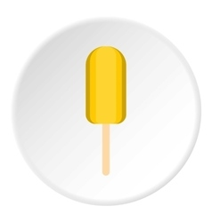 Eskimo ice cream icon flat style vector