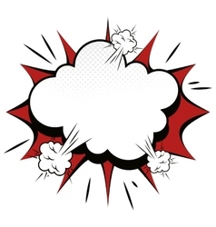 Explosion boom comic effect vector