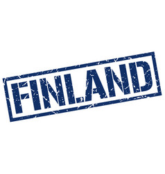 Finland blue square stamp vector
