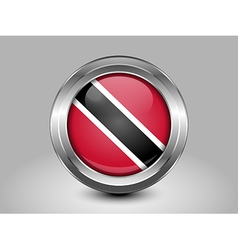 Flag of Trinidad and Tobago Metal Round Icon vector image