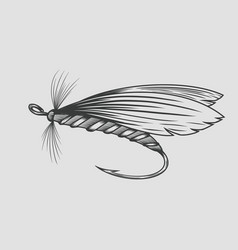 fly fishing fly fishing vintage engraved vector image