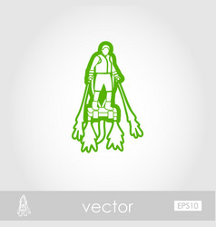 flyboard outline icon summer vacation vector image vector image