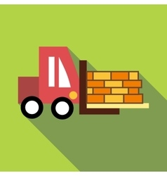 Forklift icon flat style vector