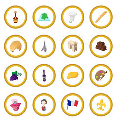 france cartoon icon circle vector image