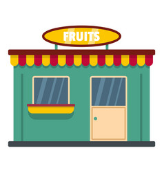 Fruit shop icon flat style vector
