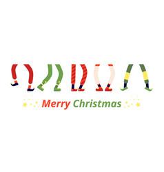 fun elf feet leprechaun legs dancing elves vector image