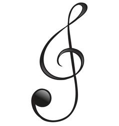 G-clef symbol vector