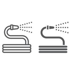 garden hose line and glyph icon farming vector image